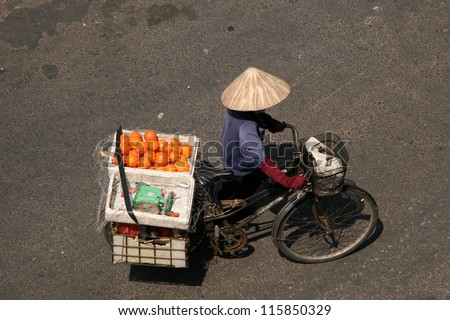 Cholon (Chinatown) in Ho Chi Minh, Vietnam - stock photo