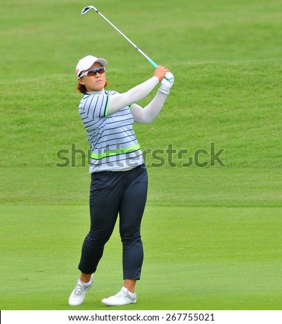 CHON BURI,THAILAND-FEBRUARY 28: Amy Yang of South Korea in action during the 2015 LPGA Thailand at Siam Country Club on February 28, 2015 in Chon Buri, Thailand.