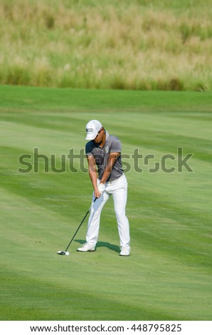 CHONBURI - DECEMBER 10 : Satoshi Kodaira of Japan player in Thailand Golf Championship 2015  at Amata Spring Country Club on December 10, 2015 in Chonburi, Thailand.