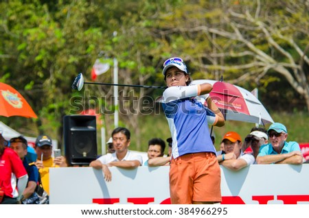 CHONBURI - FEBRUARY 28 : Julieta Granada of Paraguay in Honda LPGA Thailand 2016 at Siam Country Club, Pattaya Old Course on February 28, 2016 in Chonburi, Thailand.