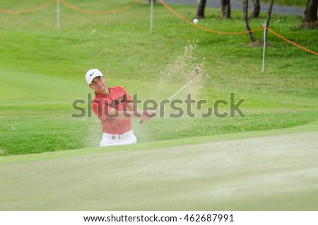 CHONBURI - JULY 31 : Miguel Tabuena of Philippines in King's Cup 2016 at Phoenix Gold Golf & Country Club Pattaya on July 31, 2016 in Chonburi, Thailand.