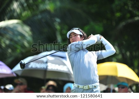 CHONBURI, THAILAND - DECEMBER 8 : A general view prior of The Golf Championship Thailand Round 3 at Ammata Spring Country Club on December 8, 2012 in Chonburi, Thailand. - stock photo
