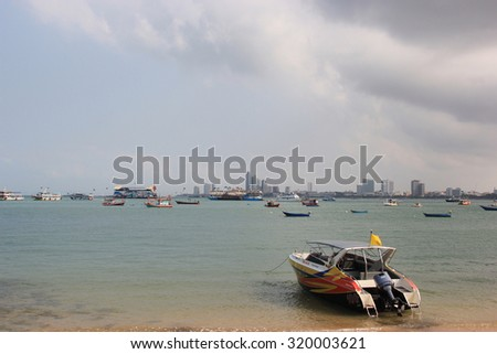 Chonburi, Thailand - February 11, 2012: Pattaya, a seaside city on the eastern gulf coast of Thailand, is one of Asia's largest beach resort and the second most visited city in Thailand.