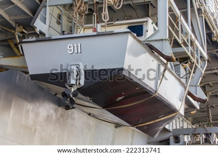 CHONBURI, THAILAND - OCT 4: Thai Military Battleship ,was one of the attraction in Sattahip district for Thai people and tourist to visit on October 4,2014, Chonburi Province, Thailand