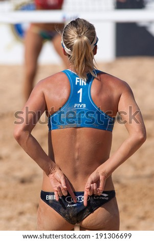 CHONBURI, THAILAND-OCTOBER 27: Emilia Nystrom of Finland in action during Day 3 of Bangsaen Thailand Open on October 27, 2012 at Bangsaen Beach in Chonburi, Thailand