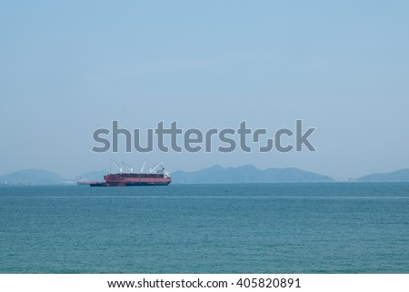 CHONBURI THAILAND - Vessel ship on the beach on 12 April 2016