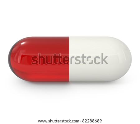 Choose correct pills - 3d illustration - stock photo