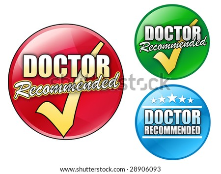 Choose from three, circular doctor recommended icons in red, green and blue.