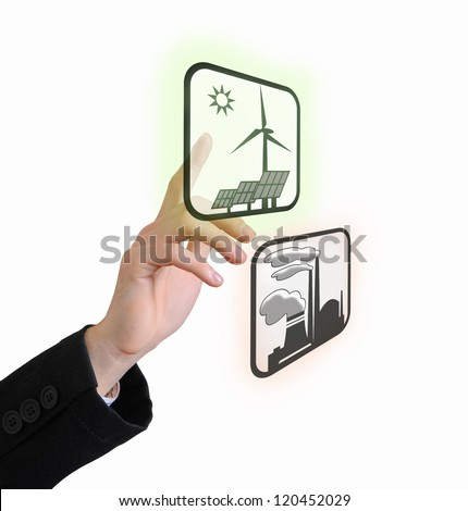 Choose green - stock photo