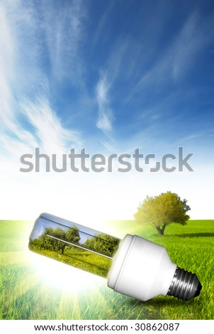 Choose green energy for our future - stock photo