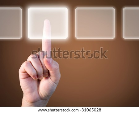 choose the best option - technology touch concept - stock photo