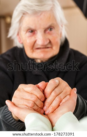 Choose the right caregiver for your loved one - stock photo