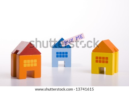 choose your best deal, buying one of this houses - stock photo