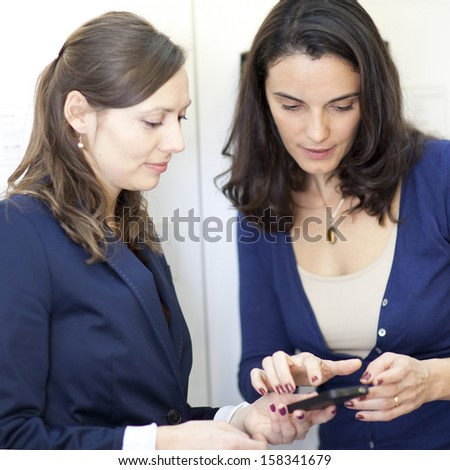 choosing a cellular phone  - stock photo