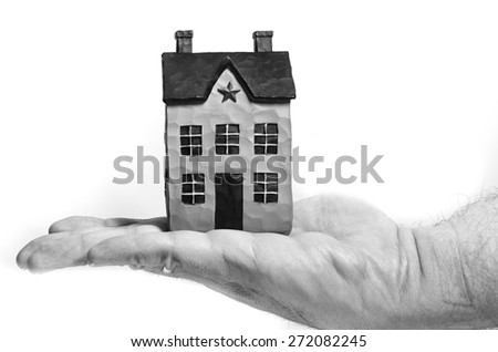 Choosing a new home - stock photo