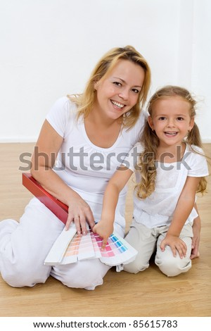 Choosing color for the kids room - pink rules - stock photo