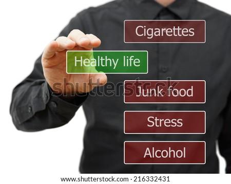 Choosing healthy life - stock photo