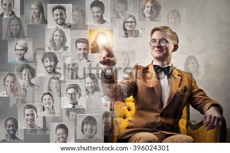 Choosing her - stock photo