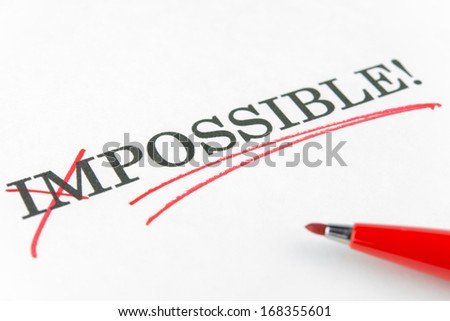 Choosing impossible or possible with red marker