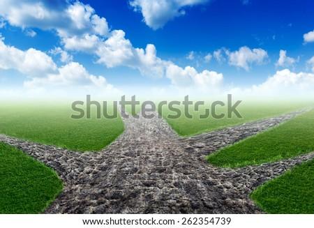 Choosing of right way - stock photo
