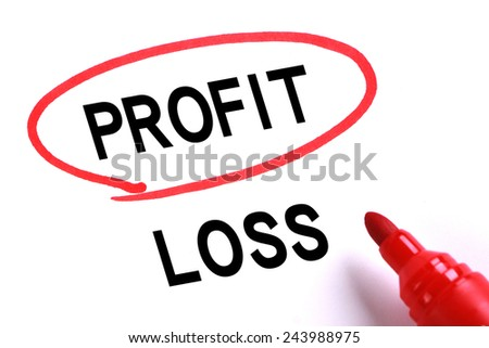 Choosing Profit instead of Loss with red marker.