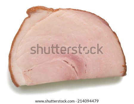 chop isolated on white background - stock photo