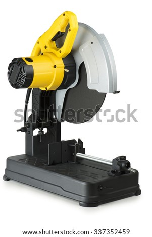 Chop saws on white background in Studio