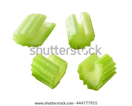chopped celery sticks - stock photo