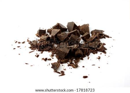 Chopped chocolate - stock photo