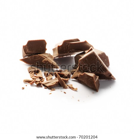 chopped chocolate - stock photo