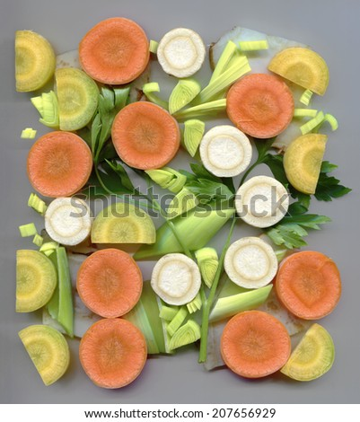 Chopped soup greens - stock photo