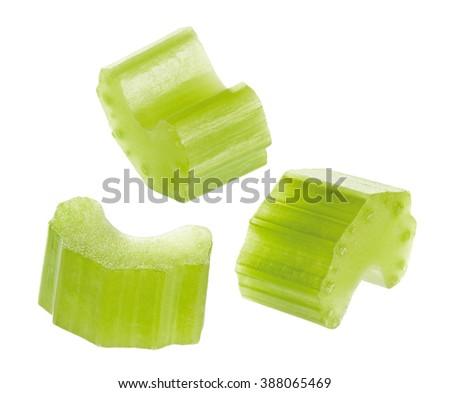 Chopped stem celery - stock photo