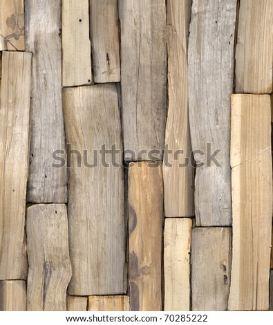 Chopped Wood Background - stock photo