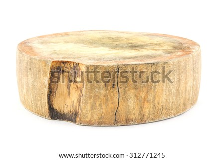 chopping block on isolated white background
