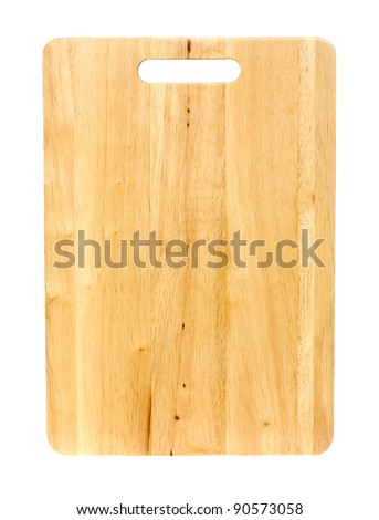 Chopping board isolated on a white background. - stock photo