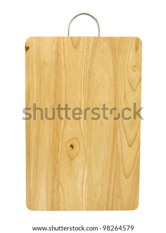 chopping board,isolated on white - stock photo