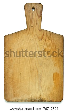 Chopping board isolated over white - stock photo