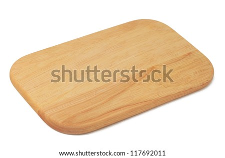 Chopping table on white background