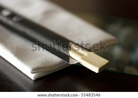 Chopstick and napkin - stock photo