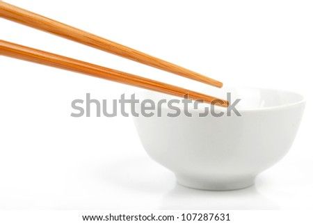 Chopstick with bowl - stock photo