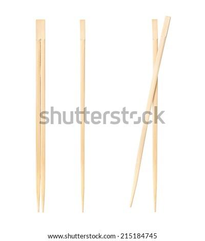 Chopsticks asian food - stock photo