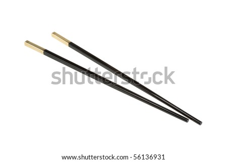 Chopsticks in the eastern traditional cuisine. - stock photo