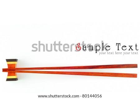 chopsticks isolated on white background. - stock photo