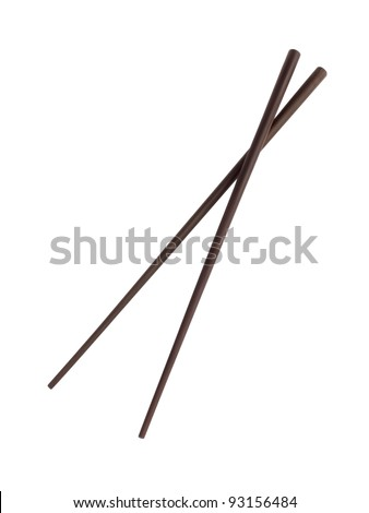 chopsticks isolated on white background - stock photo