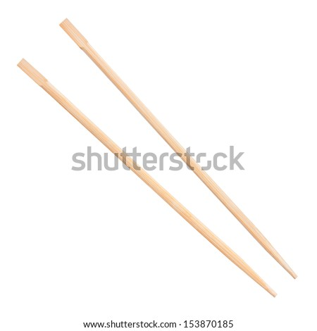 chopsticks on a white background - stock photo