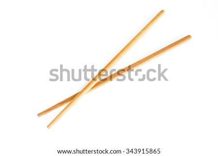chopsticks tradition chinese japanese on white background - stock photo