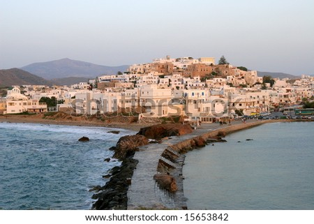 Chora in Naxos Island, Greece