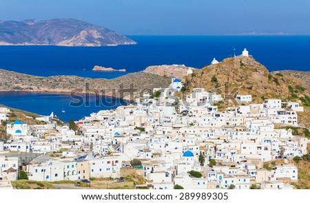 Chora town, Ios island, Cyclades, Aegean, Greece - stock photo