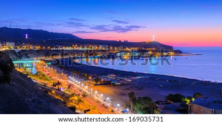 Chorrillos, Lima, Peru in HDR tone - stock photo