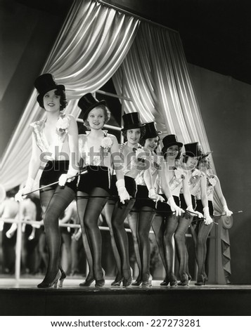 Chorus line - stock photo